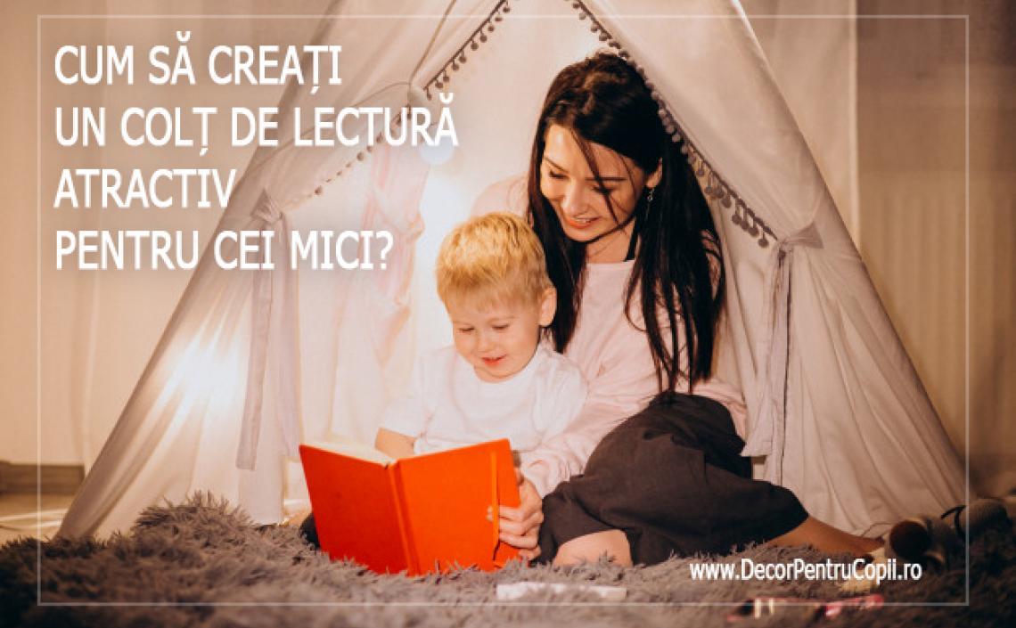 Cum să creați un colț de lectură atractiv pentru cei mici?