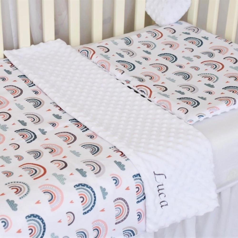 CURCUBEE SCANDINAVE - set păturică minky