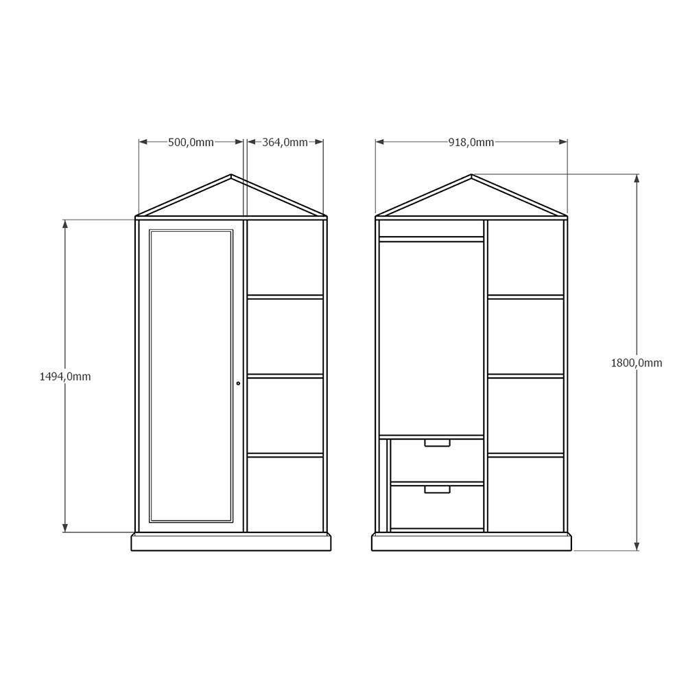 DULAP ANTIKA - lemn masiv - 3033
