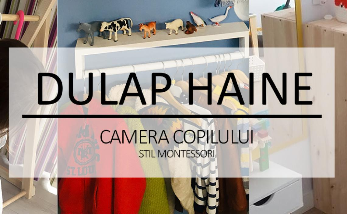 DULAP HAINE - camera copilului stil montessori