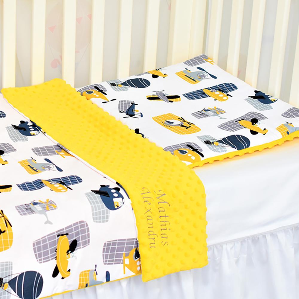 ELICOPTERE - set păturică minky