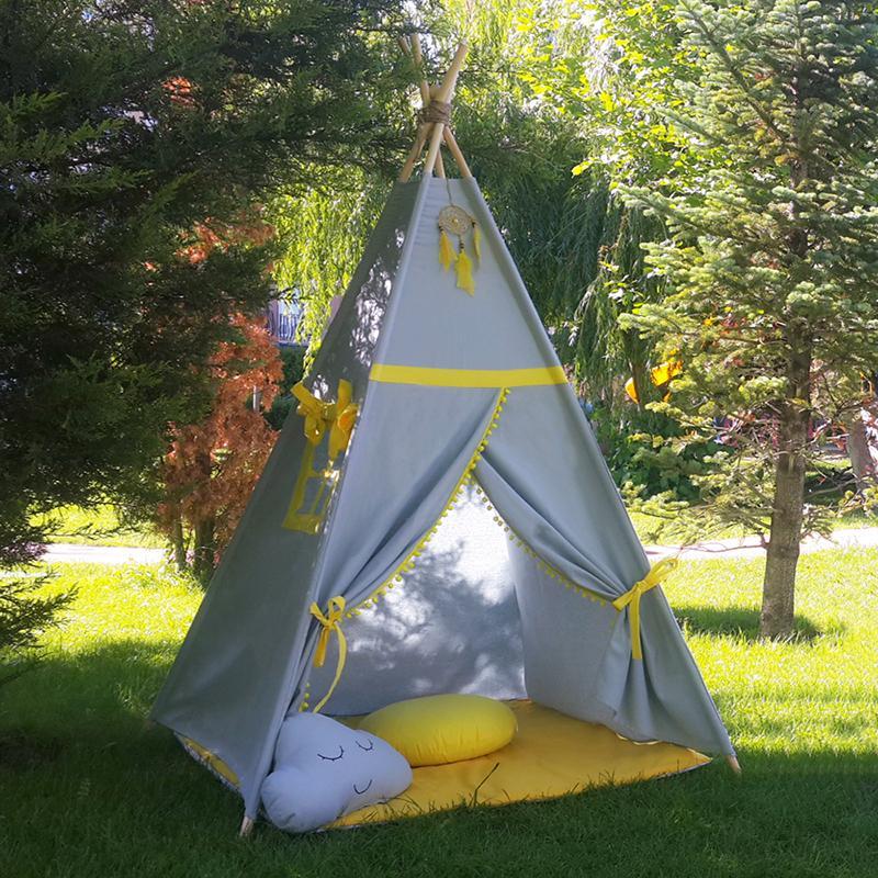 GALBEN - cort joacă Teepee pentru exterior