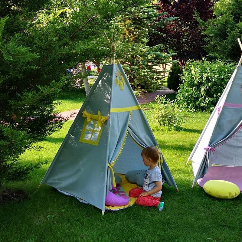 GALBEN - cort joacă Teepee pentru exterior - 3322