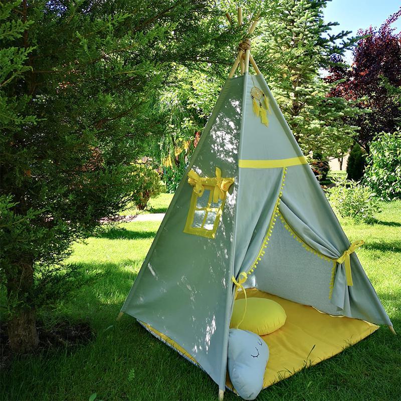 GALBEN - cort joacă Teepee pentru exterior - 3656