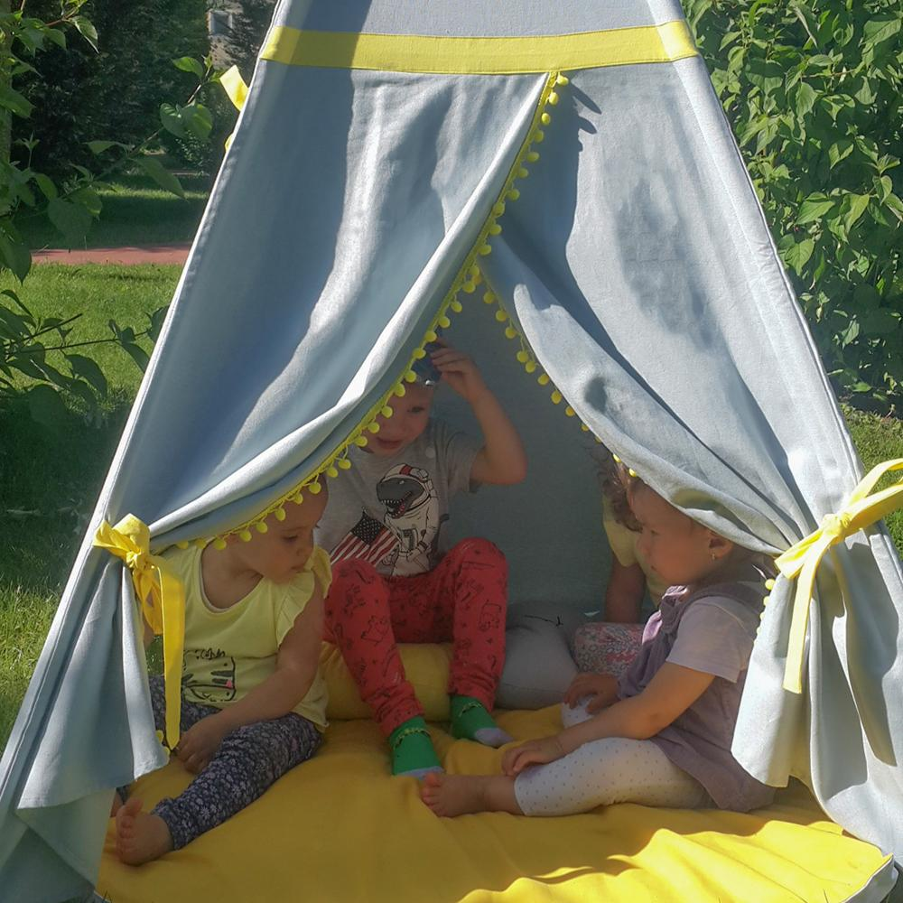 GALBEN - cort joacă Teepee pentru exterior - 8145