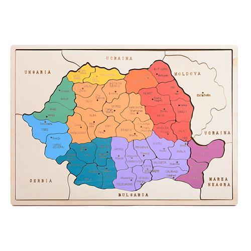 HAI SĂ ÎNVĂŢĂM DESPRE  ROMÂNIA!  - hartă colorată