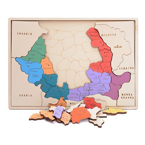HAI SĂ ÎNVĂŢĂM DESPRE  ROMÂNIA!  - hartă colorată - 6721