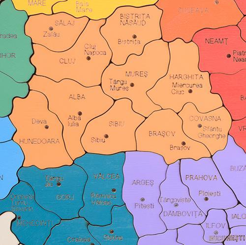 HAI SĂ ÎNVĂŢĂM DESPRE  ROMÂNIA!  - hartă colorată - 6722