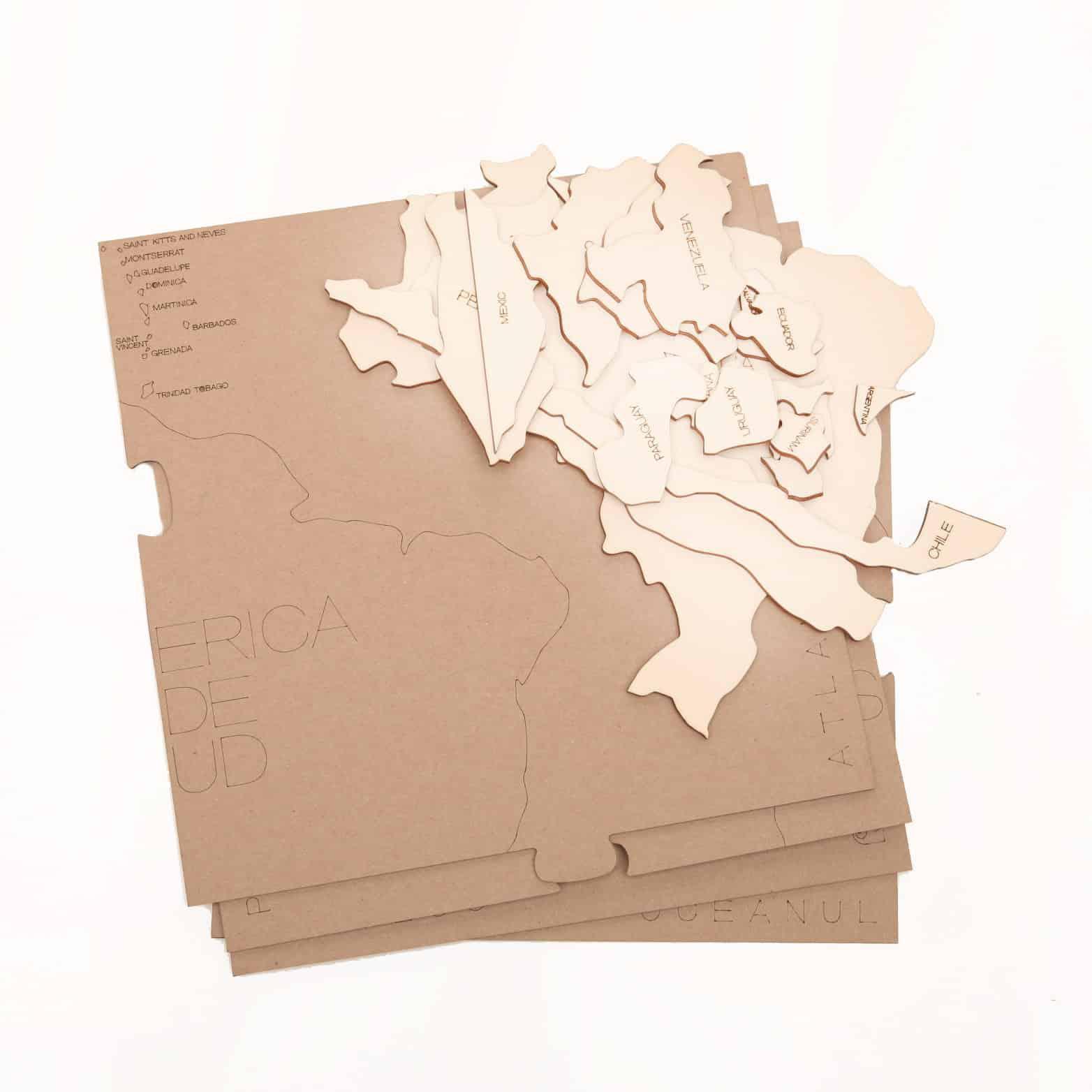 HARTĂ - AMERICA DE SUD - puzzle  - 5417