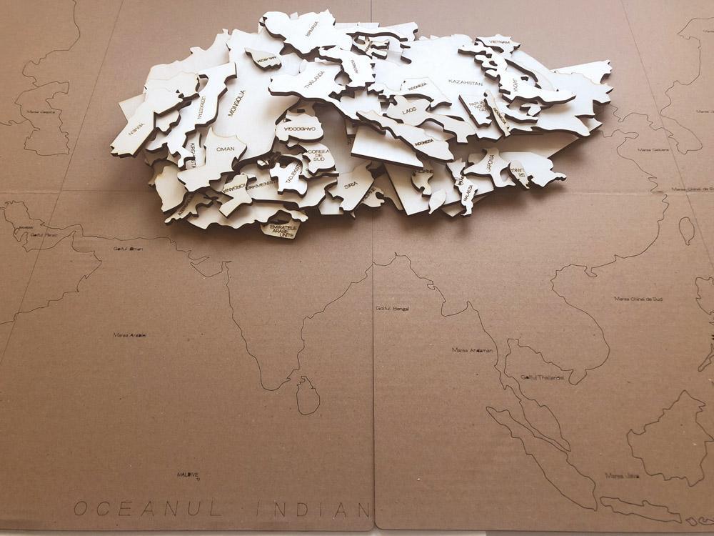 HARTĂ ASIA - puzzle - 3261