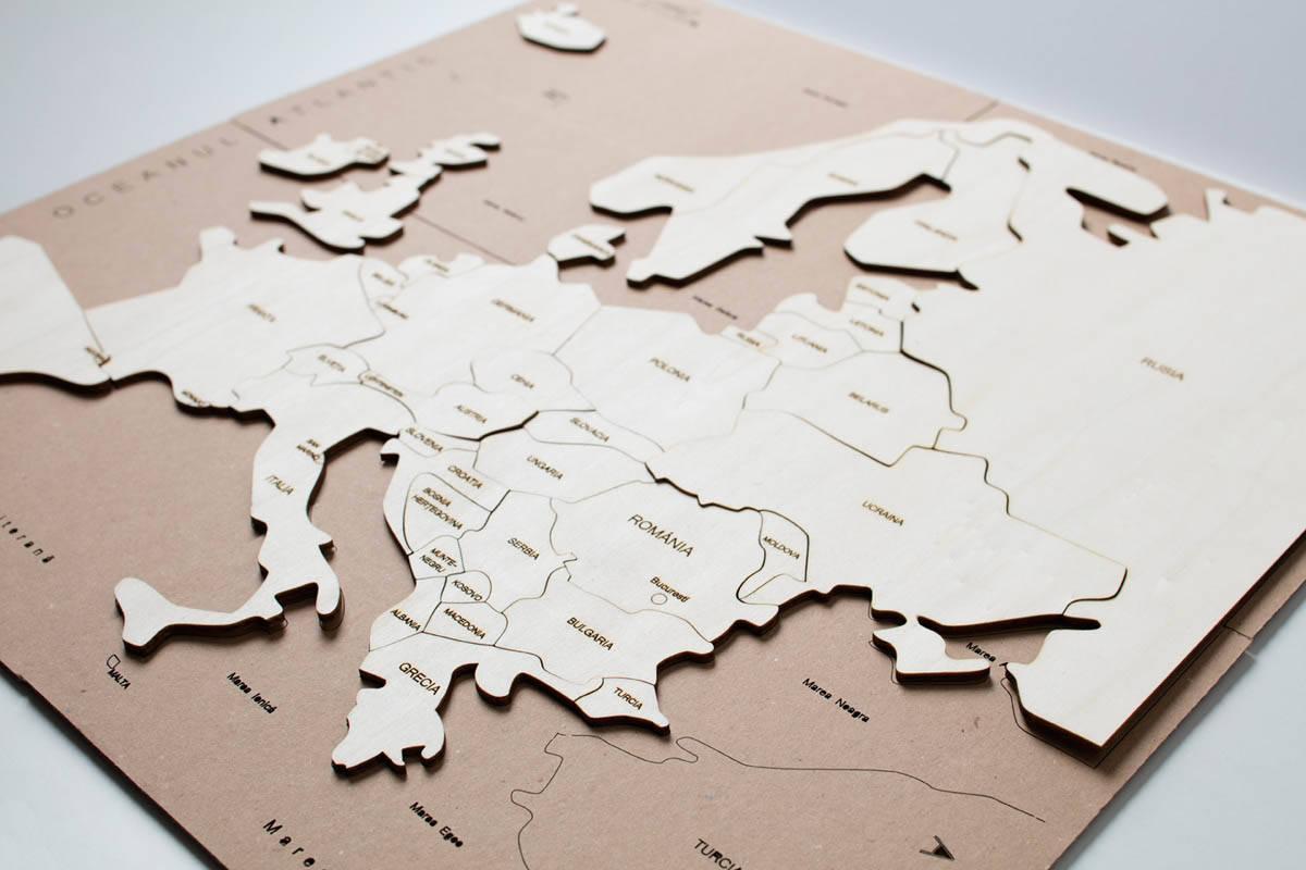 HARTĂ EUROPEI - puzzle  - 1710
