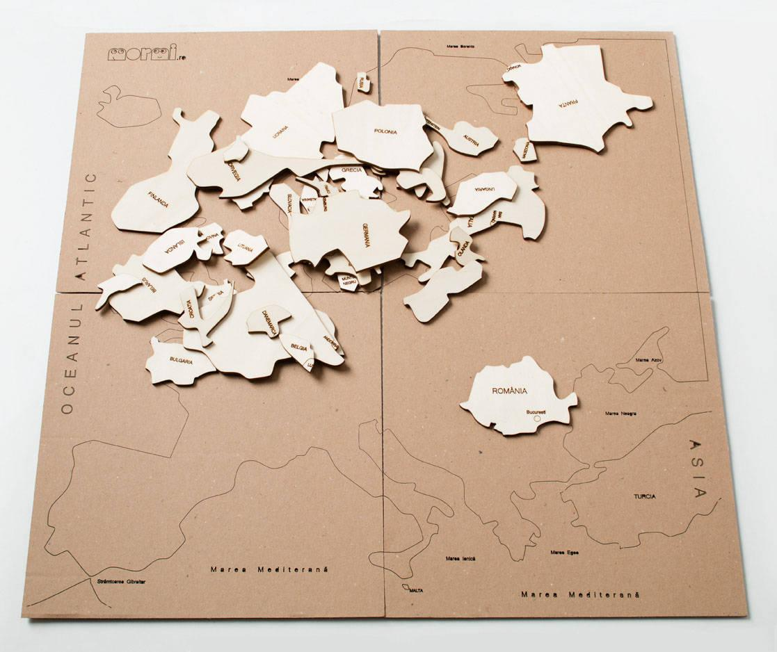 HARTĂ EUROPEI - puzzle  - 1712