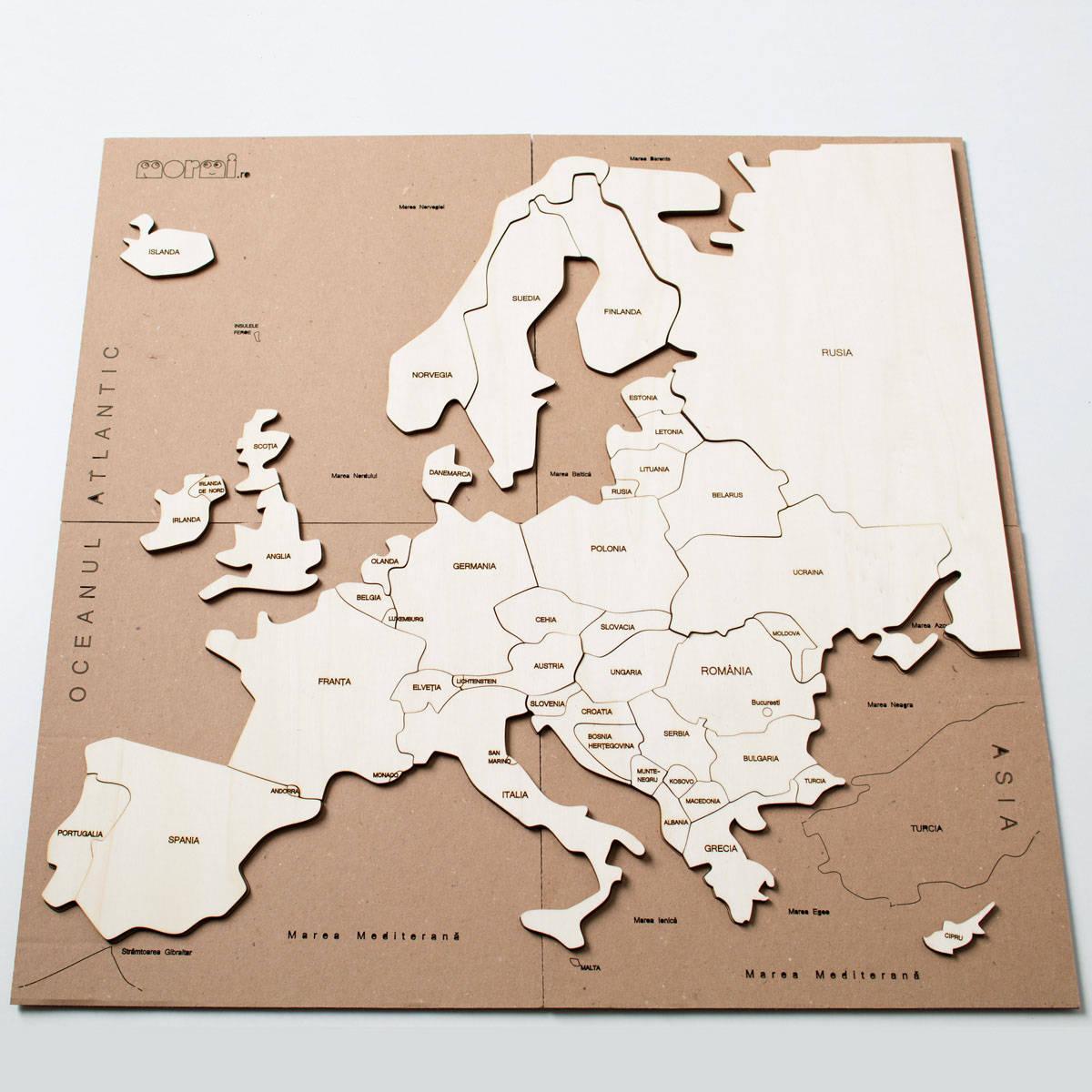 Hartă Europei Puzzle Decor Pentru Copii