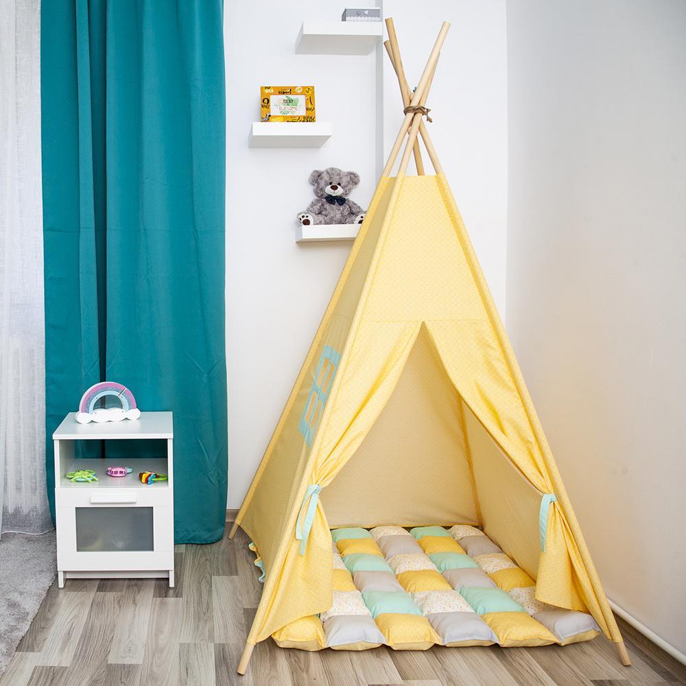HONEY COMB - cort teepee cu salteluță joacă inclusă