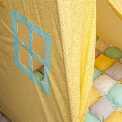 HONEY COMB - cort teepee cu salteluță joacă inclusă - 5300