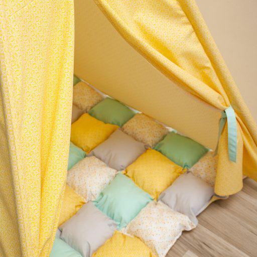 HONEY COMB - cort teepee cu salteluță joacă inclusă - 5301