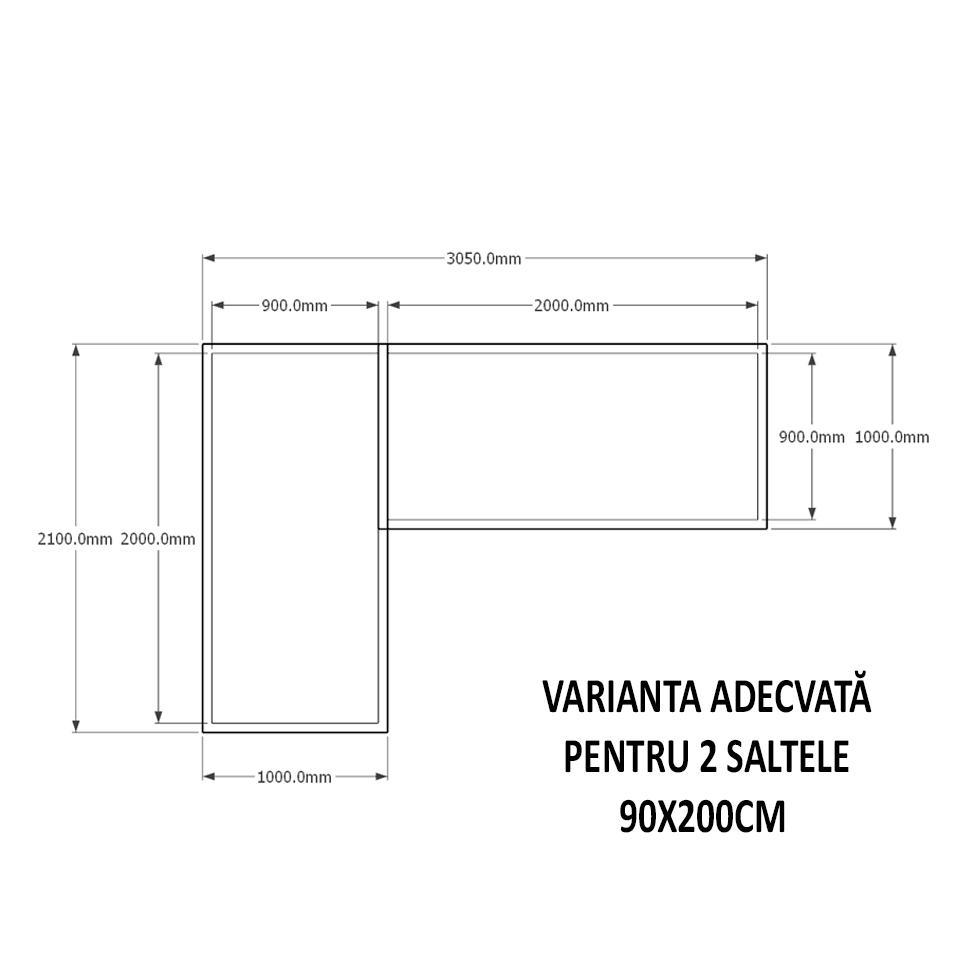 PAT DUBLU TIP CĂSUȚĂ - HAVANA - 3535