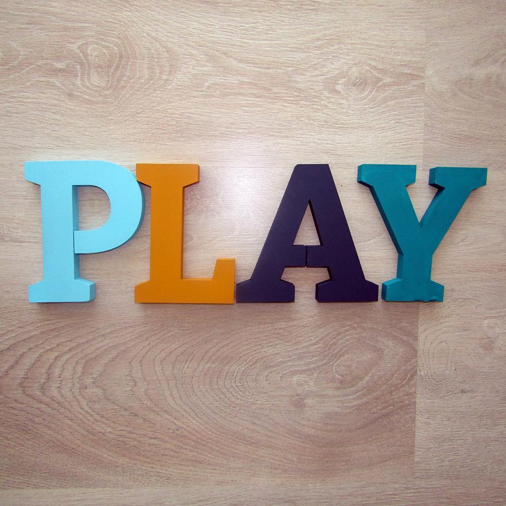 PLAY - set litere decorative - 8796