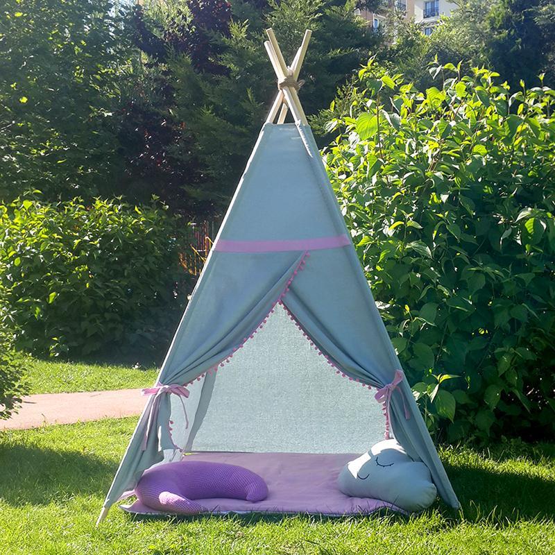 ROZ - cort joacă Teepee pentru exterior