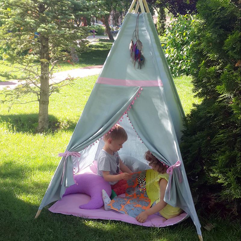 ROZ - cort joacă Teepee pentru exterior - 5028