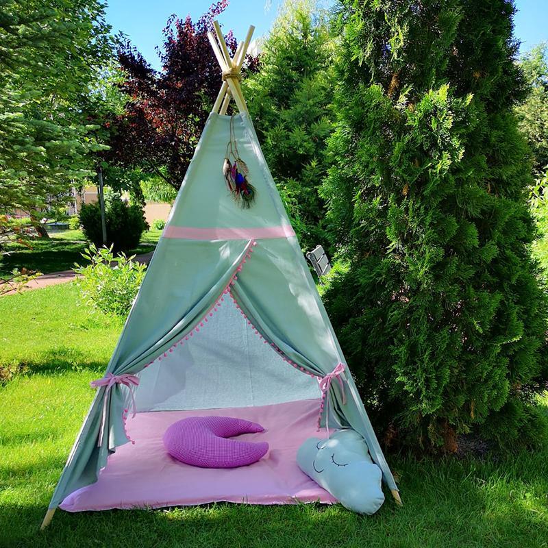 ROZ - cort joacă Teepee pentru exterior - 9264