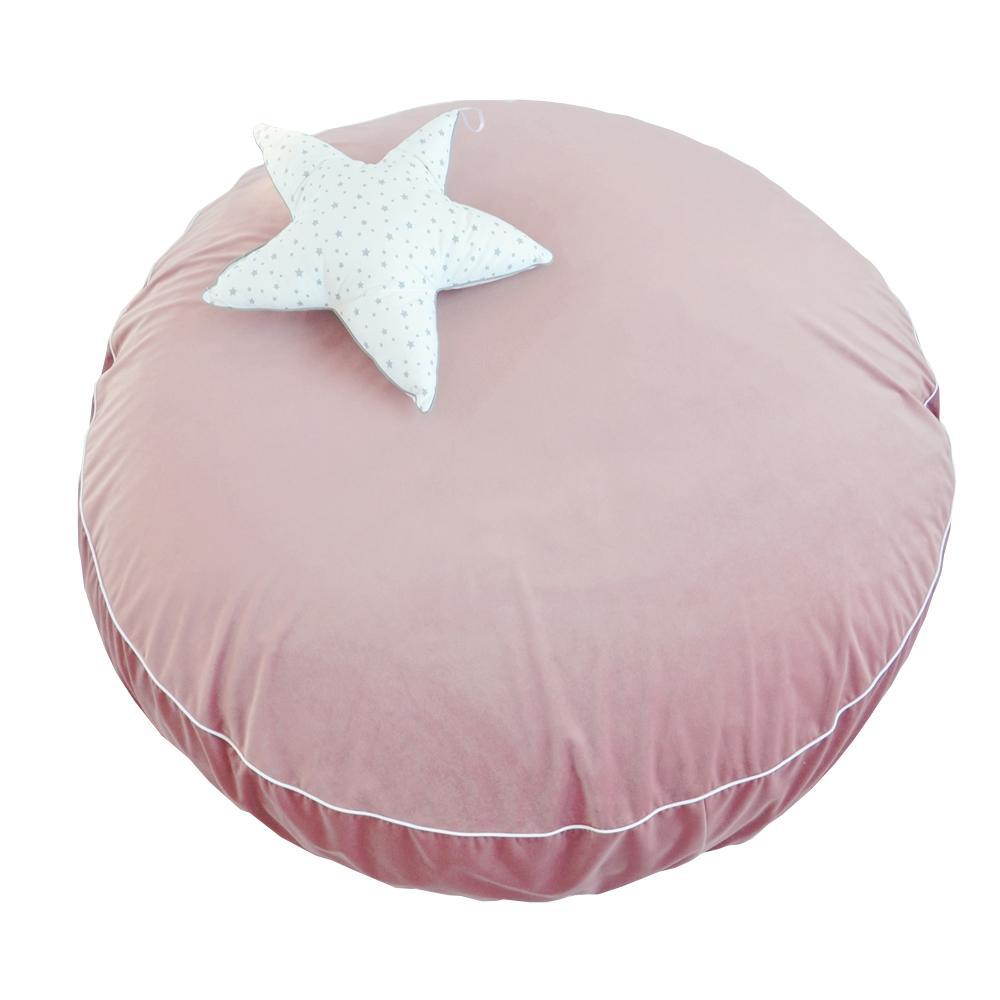 SALTEA TIP PERNĂ 120CM - catifea roz prafuit