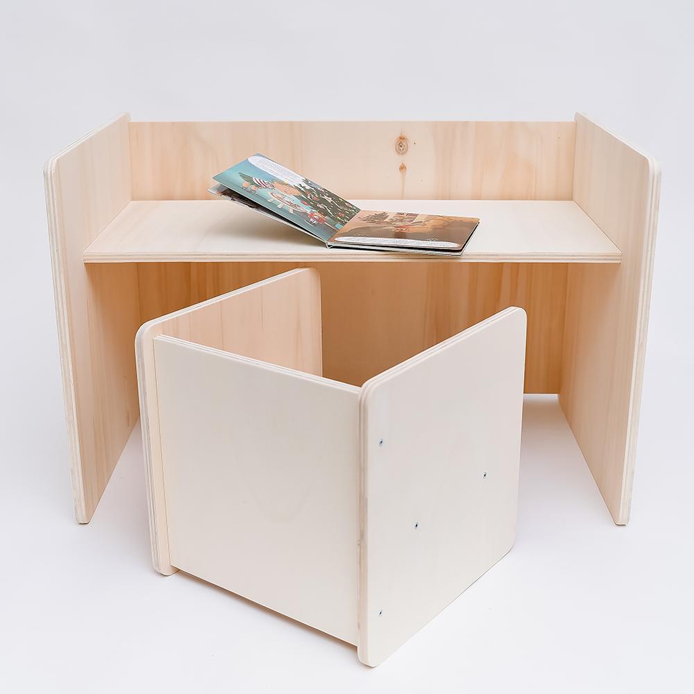 Set multifuncțional montessori masă și scaun