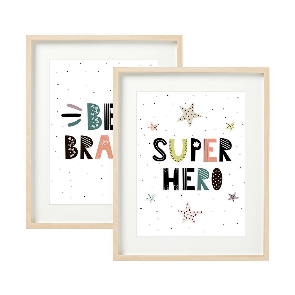 SUPER HERO - set 2 tablouri decorative 40x50cm