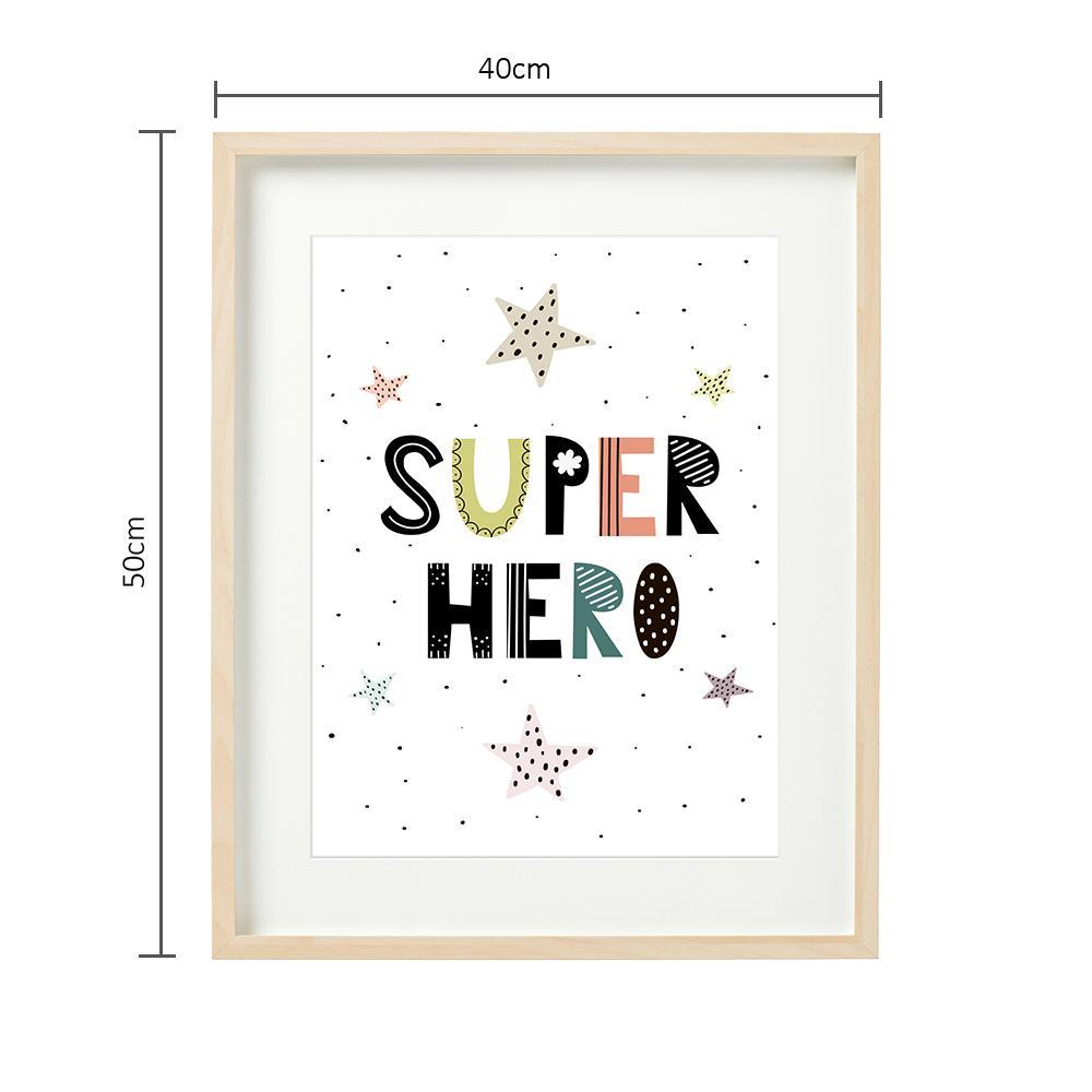 SUPER HERO - set 2 tablouri decorative 40x50cm  - 7016
